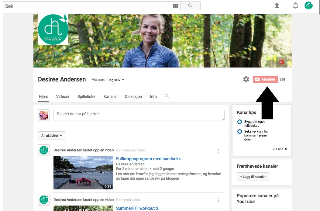 Desiree sin youtubekanal